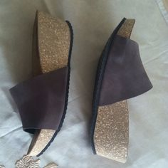 PRICE DROPPED!! Andrew Stevens wedge sandals Andrew Stevens sandals size 41, made in Italy Shoes Sandals