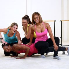 Kiesha is known for her super sculpted arms, so her students put her to the test with push-ups!
