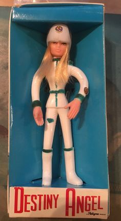 CAPTAIN SCARLET 1967 Pedigree Bendy doll Destiny Angel boxed Vintage & rare   75 Figure is 4.5 inches tall approx  Box is 6 inches tall approx