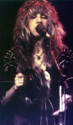 My choice for greatest female singer of the 20th century, hands down...Stevie Nicks.