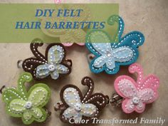 Felt barrettes that take less than five minutes to make!