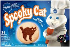 pillsbury ready to bake spooky cat shape sugar cookies 24ct hy