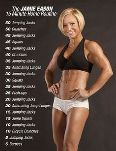 Jamie eason - 15 minute @ home routine home cardio workouts, hiit bodyweight workout, Fitness Queen, Fitness Herausforderungen, Health Fitness, Physical Fitness, Shape Fitness, Fitness Games, Fitness Humor, Fitness Design, Fitness Plan