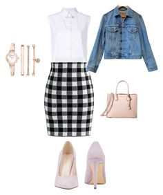 Untitled #1 by lukacsleonettazsofia on Polyvore featuring polyvore, fashion, style, Helmut Lang, Levi's, Chicwish, Nine West, MICHAEL Michael Kors, Anne Klein and clothing