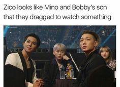 | Block B Zico WINNER Mino iKON Bobby MOBB
