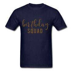 GOLD GLITZ PRINT! Birthday Squad, Unisex T-Shirt