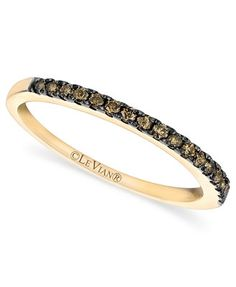 Le Vian Pave Chocolate Diamond Band (1/4 ct. t.w.) in 14k Gold
