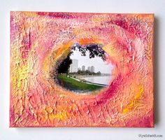 English Bay love mixed media by PaintPaperStudio on Etsy