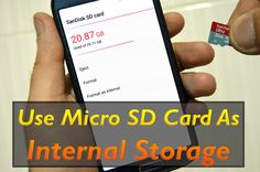 Use SD Card As Internal Storage Android Marshmallow 6.0|What|How|Pros & ...