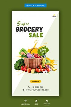 Fresh grocery sale banner | Premium Psd #Freepik #psd #banner #food #sale #shopping Food Graphic Design, Food Poster Design, Graphic Design Posters, Flyer Design, Supermarket Logo, Supermarket Design, Delivery Logo, Beef Cuts Chart, Grocery Home Delivery