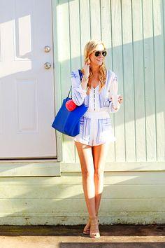 GiGi New York | A Pinch of Lovely Fashion Blog | Cobalt Tory Tote #Spring