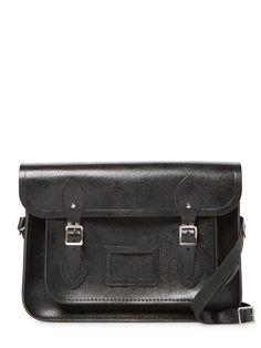 Leather Solid Satchel by The Cambridge Satchel Company at Gilt Cambridge Satchel, Shoulder Strap, Shoulder Bags, Leather Satchel, Messenger Bag, Suitcase, Logo Design, Product Launch, Handbags