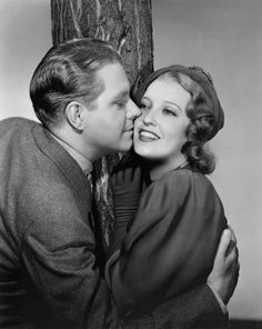 """Nelson Eddy & Jeanette MacDonald.....During summer 1935, MacDonald rekindled the relationship with Eddy when they began filming Rose Marie. MacDonald later called it """"the happiest summer of my life"""".  While on location at Lake Tahoe, they became secretly engaged. Then MacDonald became pregnant and was ordered by MGM studio boss Louis B. Mayer to have an abortion. Eddy did not believe her when she claimed to have miscarried, and he broke off the engagement."""