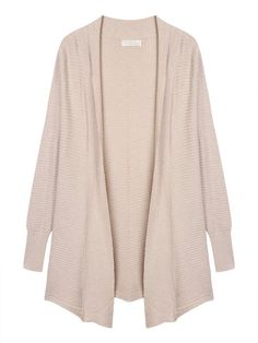 Solid Lapel Long Sleeve Knitted Sweater Cardigan For Women