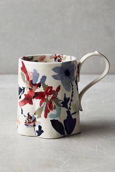Jen Garrido Wildflower Study Mug click now for more info. Ceramic Cups, Ceramic Pottery, Ceramic Art, My Coffee, Coffee Cups, Tea Cups, Cerámica Ideas, Keramik Design, Cute Mugs
