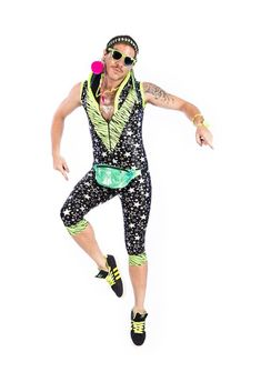 441670d40004 State of Disarray! Acid Green & Silver Stars - Spacesuit  #stateofdisarray #recklessfashionrevolution