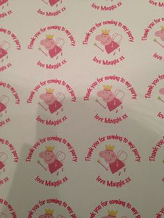 Thank you stickers for Maggie's party cones :-)