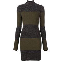 A.L.C. 'Sharon' glitter striped dress ($575) ❤ liked on Polyvore featuring dresses, black, striped dress, kohl dresses, a l c dress, black glitter dress and a.l.c.