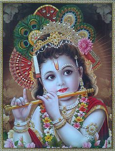 Young Lord Krishna Fluting - POSTER (Normal Paper, 8.5 x 11 Inches) Krishna Flute, Krishna Hindu, Krishna Leela, Krishna Statue, Cute Krishna, Lord Krishna Images, Radha Krishna Pictures, Krishna Photos, Krishna Radha