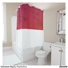 Shop Indonesia Flag Shower Curtain created by FlagGallery.