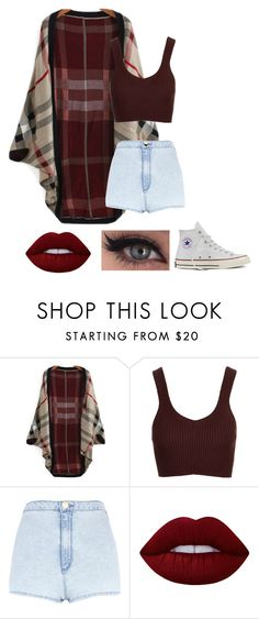 """Untitled #528"" by jujuxx33 ❤ liked on Polyvore featuring Topshop, River Island, Lime Crime and Converse"