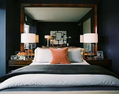 Love this layout!! Need a mirror headboard.