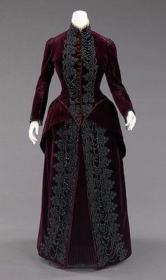 Ensemble Designer: Mme. Uoll Gross Date: ca. 1885 Culture: American Medium: silk, synthetic, jet, feather