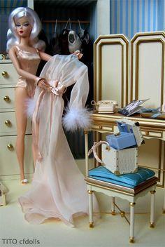 Silkstone Barbie Wardrobe and Vanity with Ingenue Silkstone Barbie, photo by TITO cfdolls