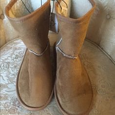 Stylish tan suede boots These boots are very fashionable.  They are not meant for the snow but look great on. Size 7/8.   Brand new with tags. If u need a different size please let me know   I can take pre orders for different sizes up to size 10. Shoes Ankle Boots & Booties