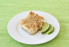 Lime and Coconut Crumble Bars Recipe on twopeasandtheirpod.com Perfect summer treat! #lime #coconut