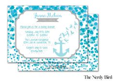 Blue Dots and Anchor Printable Baby Boy Shower by TheNerdyBird1, $15.00