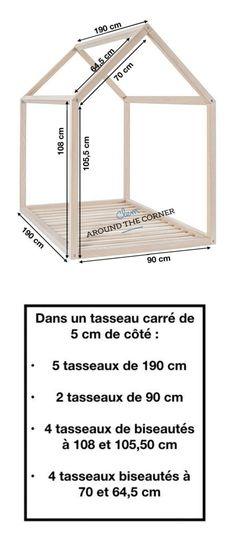 lit cabane interieur schema diy mesure diy a fabriquer soi meme mesure maison maisonnette en bois pour enfant tutoriel