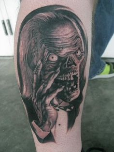 The Crypt Keeper from Tales from the Crypt tattoo! SO AWESOME!