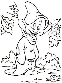 Dopey Dwarf Coloring Pages