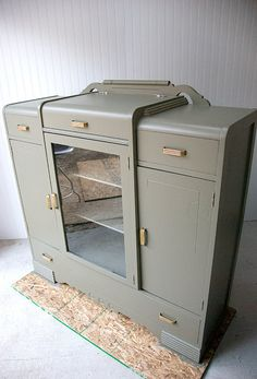 Waiting patiently for the sale to fall through.  Art Deco sideboard circa 1939  RESERVED by OliveAvenue on Etsy, $275.00