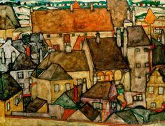 Egon Schiele - Gelbe Stadt