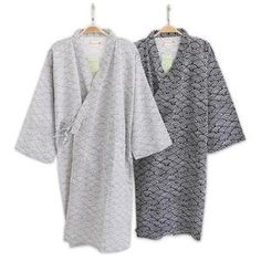 74e4aacdd6 Male Simple Japanese kimono robes men summer long sleeved 100% cotton  bathrobe fashion casual waves dressing gown men bathrobe