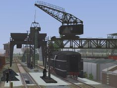 Grundset 16m Brückenkran mit Kohlenschaufel