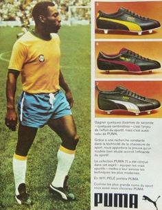 pretty nice 17cc3 d312a Pele Puma football boots - 1971 Puma Football Boots, Soccer Boots, Soccer  Cleats,