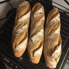 Homemade artisan bread baguette