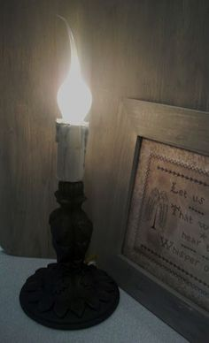 Our Pioneer Homestead~DIY primitive candle lamp