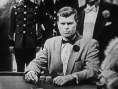 Barry Nelson as James Bond in Casino Royale (1954) made for television.