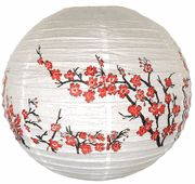"""$1.98 16"""" Red Peach Blossom Flowers Chinese Japanese Paper Lantern"""