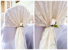 Vintage lace chair sashes #seventhheavenevents