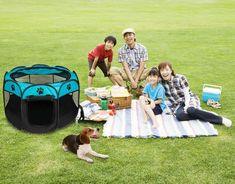Large Pet Carrier Portable Dog Cat Soft Folding Lightweight Playpen Crate Blue | Pet Supplies, Dog Supplies, Fences & Exercise Pens | eBay!