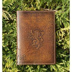 """Купить. Обложка на паспорт из кожи """"House LANNISTER"""" по мотивам сериала """"Игра престолов"""" Цена: 900р."""