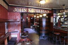 """Mulligans Poolbeg Street – Dublin, Ireland  They supposedly pour the best glass of Guinness. """"the home of the pint"""""""