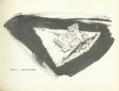 Imperial Star-destroyer sketch (Joe Johnston - concept artist and effects technician on Star Wars Ships, Star Wars Art, Joe Johnston, Star Wars Spaceships, Star Wars Vehicles, Star Wars Concept Art, Nerd Love, Star Destroyer, Technical Drawing
