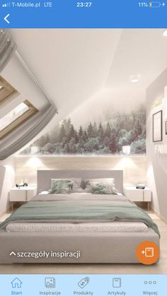 Attic Bedroom Decor, Attic Bedroom Designs, Attic Bedrooms, Home Bedroom, Bungalow Homes, Loft Room, New Homes, House Design, Decoration