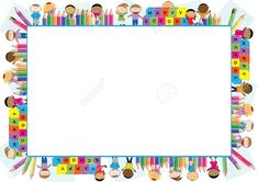 fe4147fcb5c7 Education background design. Colorful frame vector composition ...